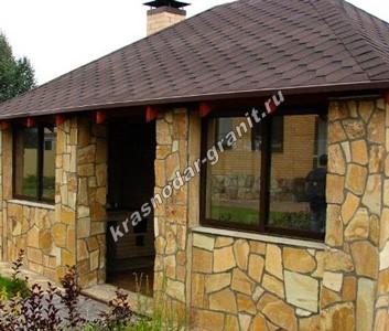 Купить камень для наружной отделки фасада дома по лучшей цене в Краснодаре